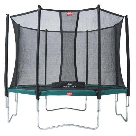 Батут  Berg Favorit 380 + Safety  Net Comfort 380 зеленый